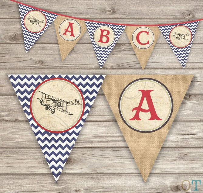 Vintage Airplane Birthday Party Airplane Baby Shower: Airplane Baby Shower Invitations Rustic Red Navy Blue Old