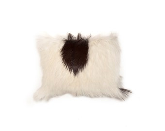Small goat hide cushion apaloossa real fur
