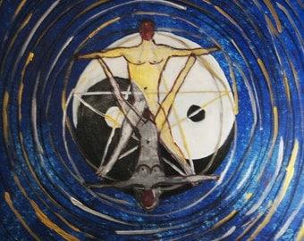 yin yang - acrylic painting