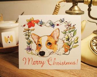 Welsh Corgi Christmas card set