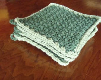 Crochet kitchen pot holder hot pad