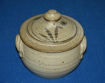 Birch Coulee Pottery lidded jar stoneware crock
