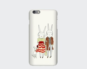 Rabbit Case for iPhone 5s, 5c, 6, 6s, 6 Plus, 6s Plus 4s. Fifisonnyandstella by Fifi Lapin.
