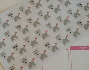 Schnauzer Stickers! Dog Stickers! Perfect for your Erin Condren Life Planner, calendar, Paper Plum, Filofax!