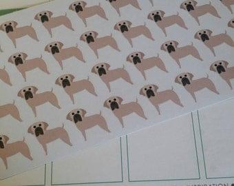 Tan Mastiff Stickers! Perfect for your Erin Condren Life Planner, calendar, Paper Plum, Filofax!