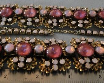 wide jelly opal Juliana necklace bracelet set ONE OF a KIND