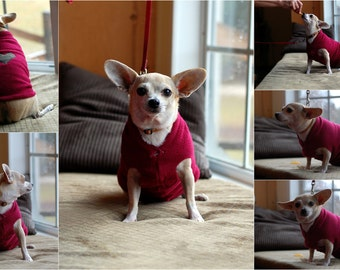 Custom Double Thickness Fleece Dog Sweater/ Coat w/ Applique- Free U.S. Shipping!
