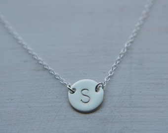 Initial Necklace, Silver Necklace, Dainty Initial Necklace, Sterling Silver Jewelry, Celebrity Inspired Necklace, Personalized Necklace
