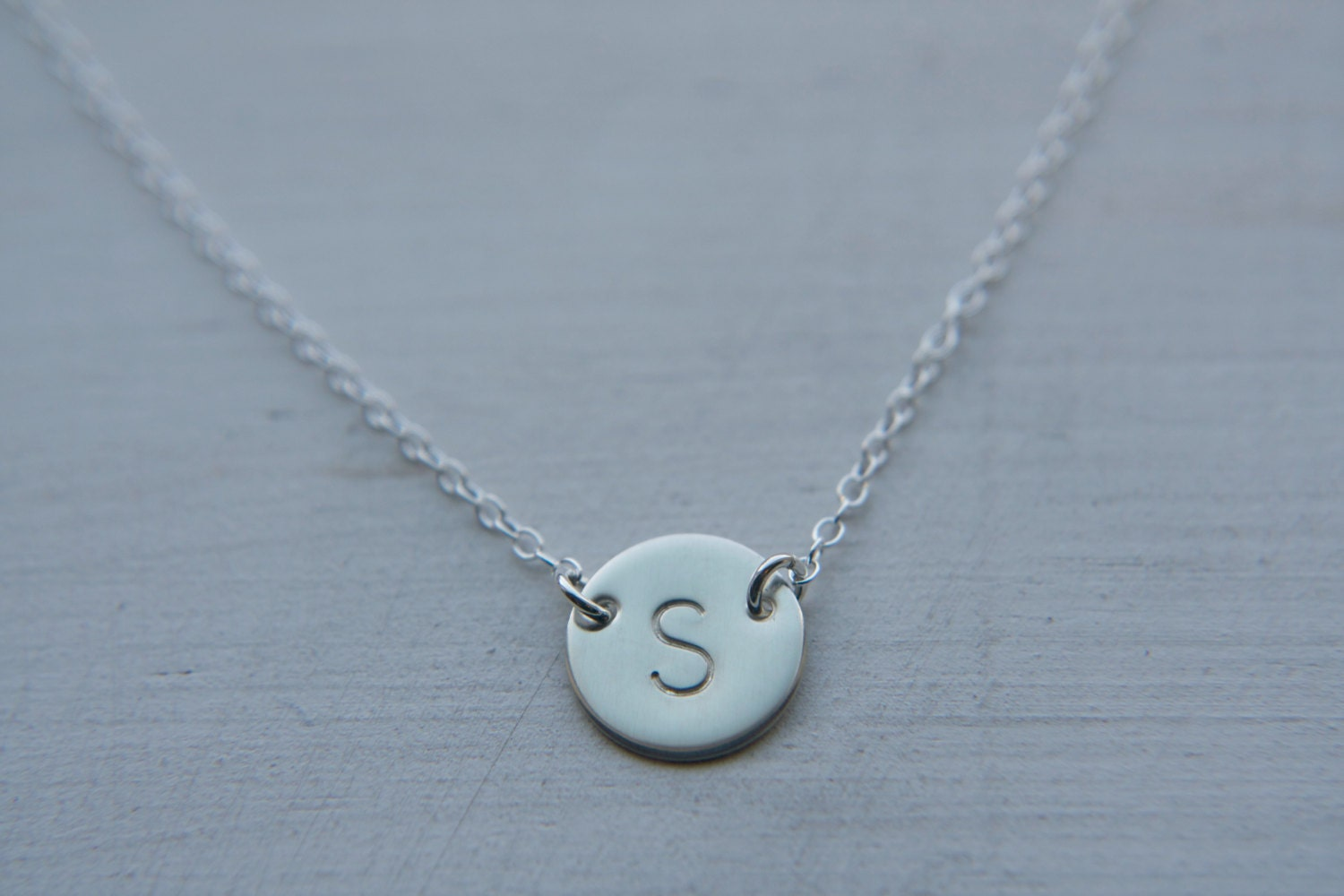 initial necklace silver necklace dainty initial necklace