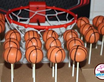 Basketball Themed Gourmet Cake Pops