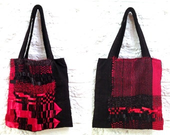 Hand Weaving Ribbon bag