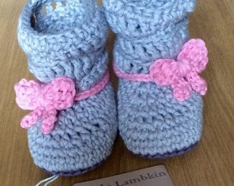 crochet baby boots slouch boots baby shower gift