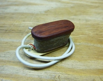 Bubinga and Black Walnut Electric Cigarbox Guitar Single Coil Pickup, Neodymium Magnets, Allwood