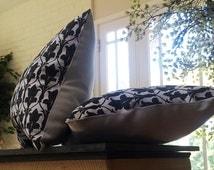 Sherlock inspired 221b accent pillow (Sherlock wallpaper small throw pillow. Strong twill fabric & white denim. Decorative pillow.)