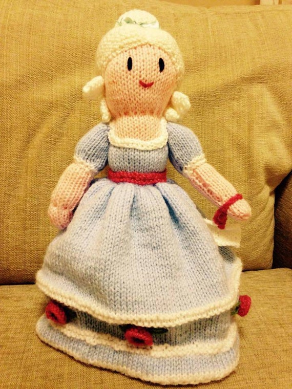 Knitting Pattern For Upside Down Cinderella Doll : Cinderella Topsy Turvy Hand Knitted Doll by HandKnittedToysJo