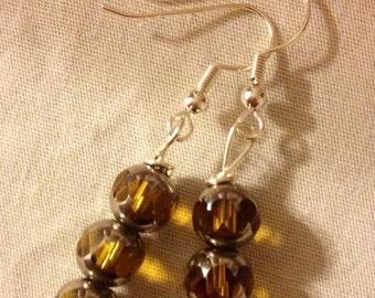 Glowing Golden Yellow Earrings