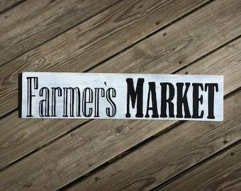 Farmers Market Sign, Farmhouse Decor, Rustic Farm Sign, Distressed Farm Sign, Cottage Chic Decor, Vintage Style Sign