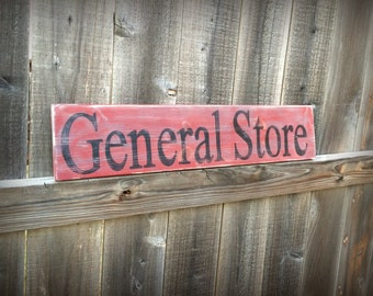 Rustic General Store Sign, Primitive Wood General Store Sign, Vintage Style Wooden Store Sign, Country Kitchen Decor, Farmhouse Sign Decor