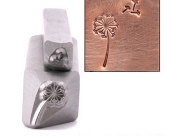 Dandelion & Fluff Metal Design Stamp 5mm x 11mm - Metal Stamping / Punch Tools for Metal Stamped DIY Jewelry, Jewelry Making Tools (DS239)