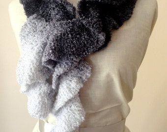 Handknitted Ombre Potato Chip Fashion Scarf