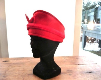 Red fleece headband