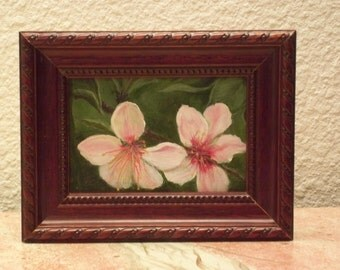 Apple Blossoms Miniature Painting