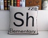 Sherlock Linen Pillow Cover (Element)