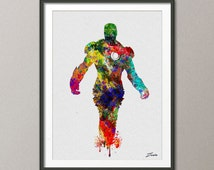 Iron man art iron man poster iron man print iron man watercolor Ironman poster iron man art wall hanging watercolor poster A108