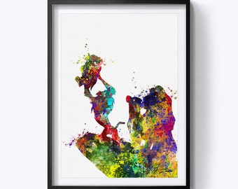 The Lion King art print The Lion King watercolor wall art poster lion king print The lion king decor A157