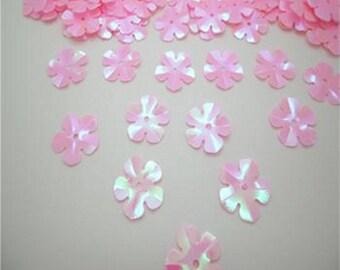 1200 Pink AB 13mm Flower Sequins