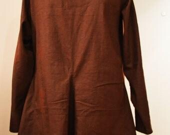 Woolen Medieval Tunic, Bocksten tunic, all hand stitched