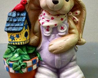 SALE--Herb Hare--Heirloom Quality--Hand-painted Ceramic--Holiday Figurine Decor--Seasonal Figurine Decor--Home Decor--Patio Decor