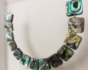 Sterling Silver & Abalone Shell Necklace
