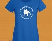 Ladies Fit French Bulldog T-Shirt, Various Colours Handmade UK