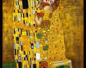 Gustav Klimt -The Kiss Framed