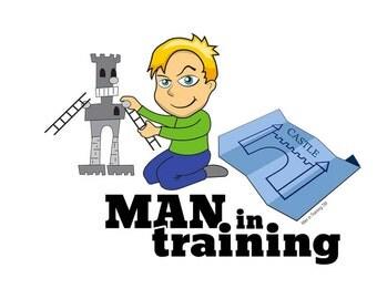Man in Training Robot T-Shirt