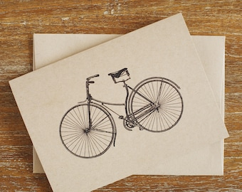 Folded Bicycle Note Cards (Set of 8)