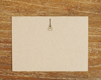 Flat Note Cards (Set of 8) - The Gary (guitar)