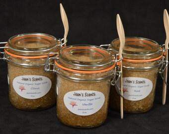 Organic Sugar Scrub, 10oz Jar