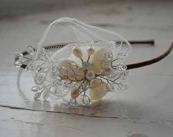 Beautiful bridal side tiara