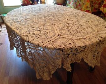 Crochet Star Tablecloth