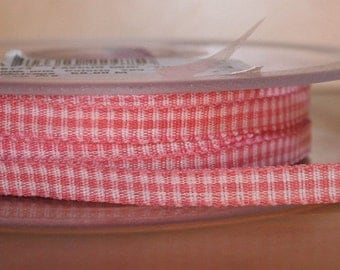 Pink Mini Gingham Ribbon 5mm