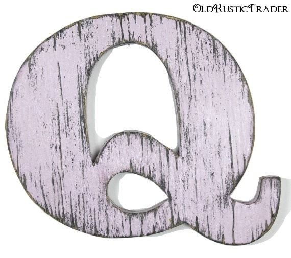 Rustic alphabet letter q home decor 12 inch large wooden wall for Large letter k wall decor
