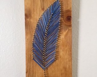 Single Feather String Art