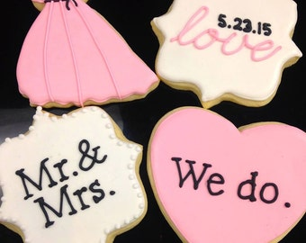 Gourmet Sugar Cookie Collection for Love Wedding or Bridal Shower