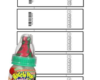 Pop bottle Template