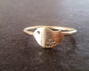 SALE! Bird Ring, Dainty Gold Ring, Delicate gold Ring, Gold Bird Ring,Bird Jewelry,Thin Gold Ring,Tiny Gold Ring