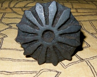 African Carved Wood Stamps For Fabric, Paper, Clay, Ghana *1