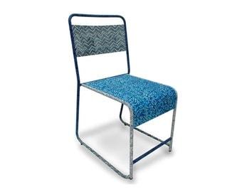 Batik School Chair in Ocean Blue