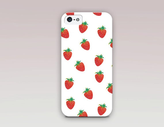 Strawberry Phone Case For iPhone 6 Case iPhone 5 Case by ...